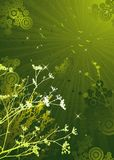 Silhouettes of plants, vector Royalty Free Stock Photography