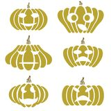 Silhouettes of pumpkin Stock Image