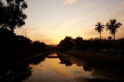 Siem Reap sunset view Royalty Free Stock Images