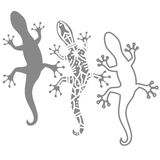 Silhouettes of salamander Stock Images