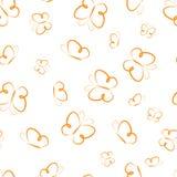 Silhouettes sans couture de modèle des papillons dessinant des papillons de vol pour des couvertures de papier peint imprimant su illustration de vecteur