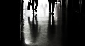 Silhouettes and shadows in the city royalty free stock photo