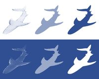 Silhouettes of sharks royalty free illustration