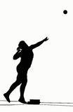 Silhouettes - Shot Put royalty free stock image