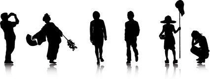Silhouettes (siluets) Royalty Free Stock Image