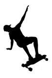 Silhouettes of skater boy. Stock Photos
