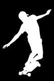 Silhouettes of skater boy. Royalty Free Stock Photo