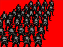 Silhouettes Of Soldiers Royalty Free Stock Images