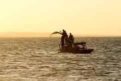 silhouettes solnedgång Royaltyfri Fotografi