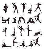 silhouettes sportar Royaltyfria Foton