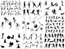 silhouettes sportar Royaltyfri Bild