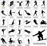 silhouettes sporten Royaltyfri Foto