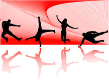 silhouettes sporten Royaltyfria Foton