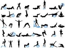 silhouettes sporten Arkivbild
