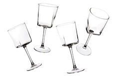 Silhouettes of stemware glass on a white background. Stock Image