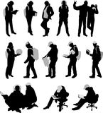Silhouettes of students Royalty Free Stock Images
