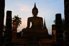 silhouettes sukhothai Arkivfoto