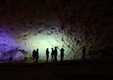 Silhouettes in Sung Sot Cave royalty free stock image