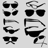 Silhouettes of sunglasses Stock Image