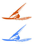 Silhouettes of surfers Royalty Free Stock Image