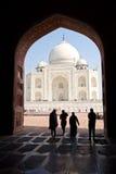 Silhouettes, Taj Mahal, Inde Photos libres de droits