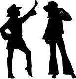 Silhouettes of teen. Teenage fashion - Silhouettes of teen Royalty Free Stock Photography
