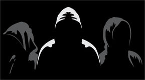 Silhouettes of three anonymous Stock Images