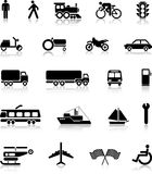 Silhouettes_transport Royalty Free Stock Photos
