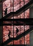 silhouettes trappuppgången royaltyfri fotografi