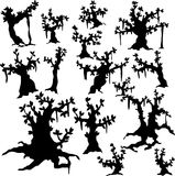 Silhouettes of trees Stock Image