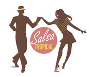 Silhouettes tropicales de Salsa illustration de vecteur