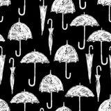 Silhouettes of the umbrellas Stock Photo