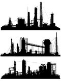 Silhouettes of units for industrial zone. Stock Images