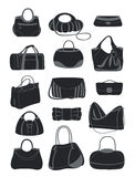 Silhouettes of various bags Stock Image