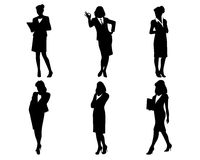 Silhouettes on white Royalty Free Stock Photography