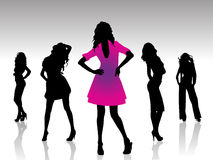 Silhouettes woman Stock Photos