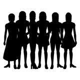 Silhouettes of women. On a white background- additional ai and eps format available on request stock illustration