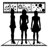 Silhouettes of women Stock Photos