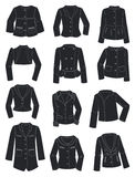 Silhouettes of womens jackets Royalty Free Stock Images