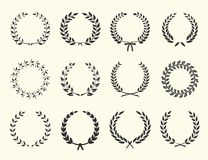 Silhouettes of wreaths Royalty Free Stock Photo