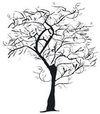 silhouettetree royaltyfri illustrationer