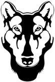 silhouettewolf Royaltyfri Fotografi