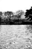 Silhouettieren Sie Ansicht des Gartens in Westsee Hangzhou, China Lizenzfreie Stockfotografie
