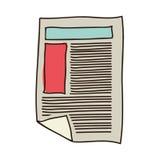 Silhouettieren Sie buntes des Papierblatttextes und -graphiken stock abbildung