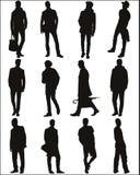 Silhouettiert städtische Jungen Stockbild