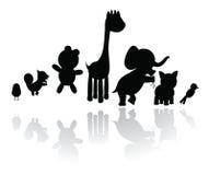 silhouettiert Tiere Lizenzfreies Stockfoto