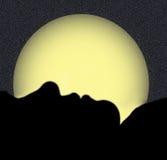 Silhouettiert vom Frauen-Schlafen Lizenzfreie Stockfotografie