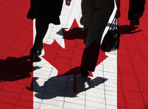 Silhouettierte Käufer Stockfotografie