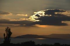 Silhouettte del sol Fotografía de archivo libre de regalías