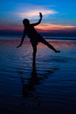 Silhoulette. Dark shadow bluewater royalty free stock image